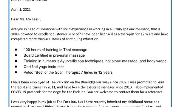 Massage Therapist Cover Letter: 6 Ways to Increase Job Hire